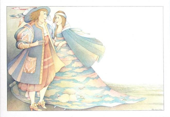 Bajki- ilustracja do książki Charles'a Perrault'a
