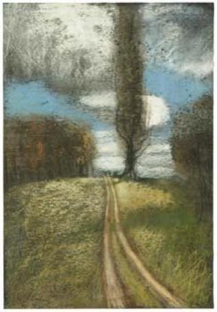 Droga polna wŁagowie, pastel, papier