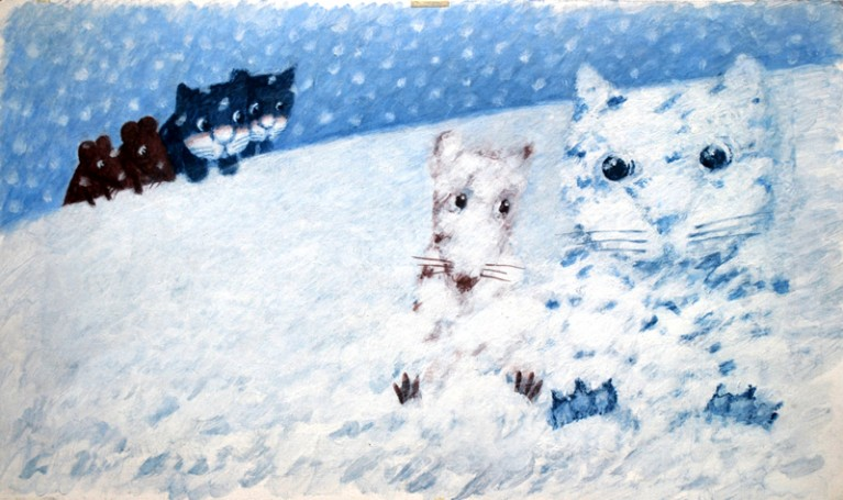 Cat and mouse - Ilustration, 1996