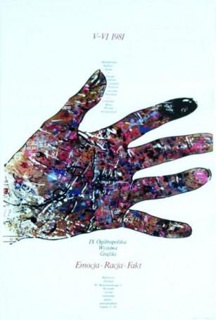 IX Ogólnopolska Wystawa Grafiki -Emocja Racja Fakt, 1981 r.