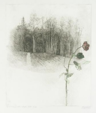 March landscape withe the rose, 1982