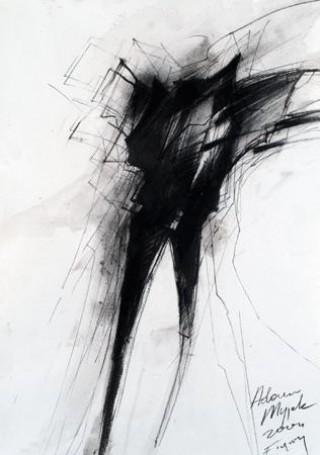 Z cyklu Figury, 2004, rysunek, papier