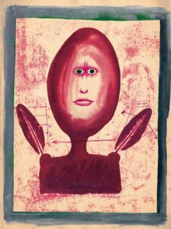 Franciszek Starowieyski Bez tytułu, lata 50 – te, tusz, tempera, papier, 40x30cm