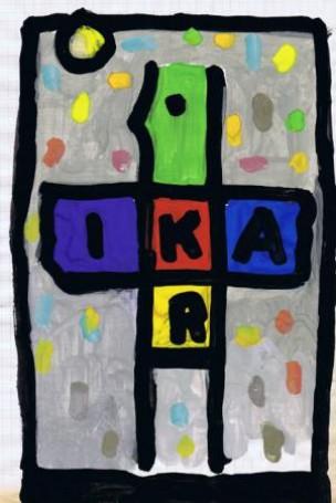 Z cyklu Ikar, tempera, 29x21 cm, papier