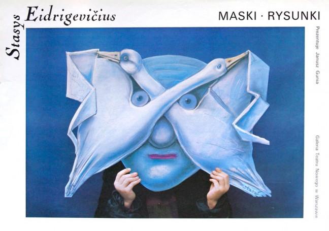 Stasys Eidrigevicius. Maski rysunki, 1987