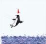 Pingwinek skaczący do wody