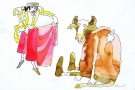 Byczek Fernando, ilustracja książkowa