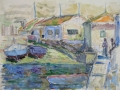 Helena Zaremba-Cybis, Fishing port, 1969