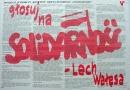 Głosuj na Solidarnosc -Lech Walesa. Program Komitety Obywatelskiego SOLIDARNOSC