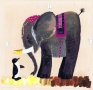Miroslaw Pokora, Elephant and penguin, 1967, illustration from
