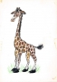 Giraffe, illustration for Book 'Zwierzeta Pana Brzechwy'