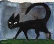 Bez tytułu (czarny kot)