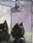 Untitled (cat with a mirror)